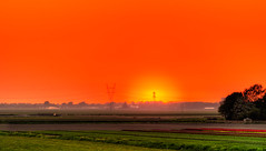 Western Sunset. (Alex-de-Haas) Tags: 70200mm adobe d500 dutch hdr holland lightroom nederland nederlands netherlands nikkor nikon nikond500 noordholland photomatix photomatixpro beautiful beauty drama dramatic landscape landschaft landschap lente lucht mooi nature natuur orange oranje polder skies sky skyscape spectaculair spectacular spring sun sundown sunset zonsondergang