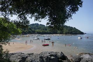 Plage de Laidatxu, Mundaka, Biscaye, Pays basque, Espagne.