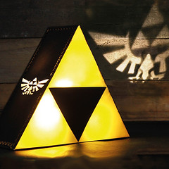 Legend of Zelda Glowing Triforce Lamp (mywowstuff) Tags: gifts gift ideas gadgets geeky products men women family home office