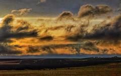 Laramie Plains (rolfstumpf) Tags: usa wyoming laramie plains clouds sunset unionpacific lincolnhighway up4014 trains railway railroad olympus cloudporn