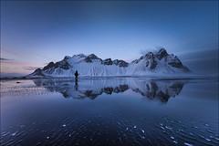 Vestrahorn (Jose Cantorna) Tags: vestrahorn iceland islandia reflejo playa beach nikon d610 cielo nieve paisaje montaña sky mountain