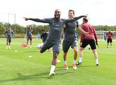Arsenal Training Session (Stuart MacFarlane) Tags: sport soccer clubsoccer stalbans england unitedkingdom gbr