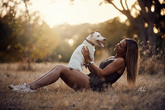 M&T (Alexandremqs) Tags: explore expression dogs doglove jack russel small woman blonde portugal portrait pets perro pose photography yourbestoftoday warm autumn beautiful simply photoshoot smile happydogsday hapiness background leaves trees lifestyle