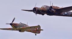 Sturdy stalwarts... (Ian A Photography) Tags: aeroplanes aircraft aviation battleofbritain bigginhill hawker hawkerhurricane historicaircraft hurricane nikon planes warbirds warplanes