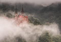 COVADONGA in MIST (WilsonAxpe) Tags: travel landscape mist niebla labasilicadecovadonga basilica spain asturias covadonga