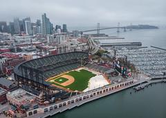 AT&T Park (A Sutanto) Tags: att park san francisco drone view aerial shot sf city skyline morning dawn overcast stadium baseball