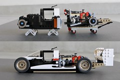 Toyota Eagle MkIII GTP 1993: preparations underway (PROTOTYP.) Tags: lego toyota eagle mkiii gtp creator 16wide moc