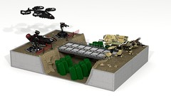 Nod base atack (Lego C&C) Tags: ldd lego cc3 nod gdi battle