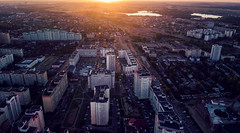 Minsk (free3yourmind) Tags: minsk aerial belarus xiaomi mi drone quadcopter view above sunset sunlight light dark city architecture