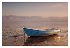Stranded (bprice0715) Tags: canon canoneos5dmarkiii canon5dmarkiii landscape landscapephotography nature naturephotography beautiful beauty beautyinnature sunrise colorful colors boat dory bluedory ocean sky clouds capecod pointofrocksbeach fineart seascape