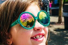 Steel Phantom Reflection (Kurt Miller) Tags: kennywood steelphantom amusementpark glasses reflection reflections summer sunglasses