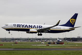 EI-GJS | Ryanair | Boeing B737-8AS(WL) | CN 44836 | Built 2018 | DUB/EIDW 14/05/2018