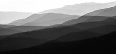 Haze in Three B&W (SopheNic (DavidSenaPhoto)) Tags: impressionisticphotography haze monochrome multipleexposure mountains bnw fuji bw xt2 blackandwhite fujifilm impressionism