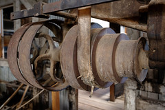3rd Gear (CameraOne) Tags: gears beltdrive mine goldmine equipment drillpress 1800s bodie ghosttown owensvalley california rust raw wideangle abandoned statepark mill stampmill canon6d canonef1740mm cameraone urbandecay