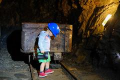 Hamish pulling a truck (timnutt) Tags: xt2 llyn cavern child slate lleyn mine children fuji 35f2wr holiday family 35mm fujifilm wales people