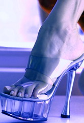 nothing to hide! (pbass156) Tags: closeup clearheels clear seethrough mules toes toefetish toenails teasing toepolish feet foot footfetish fetish