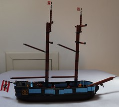 Ship WIP 2 (spud_the_viking) Tags: lego ship boat vessel navy merchant moc corrington redcoat mast