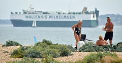 Life's a beach (Chrispics Photography) Tags: stokes bay gosport ship car transporter beach