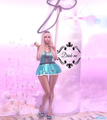 'But it said 'Drink Me !' (Peaches Whimsy) Tags: wasabi jrwolfcreations fable3 evilbunny mystic fae alice virtual girl avatar secondlife sl