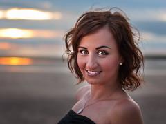 Madzia (Mariusz Talarek) Tags: lighthouse mtphotography madzia merseyside newbrighton seaside beach enjoy fun girl happy landscape polishgirl portrait sunset