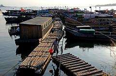 Fishing boats (MelindaChan ^..^) Tags: guangxi china 廣西 chanmelmel mel melinda melindachan life farm pond water fisherman boat 東興 澫尾島 fishing tradition beach