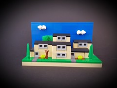 Swedish Block of Flats MOC (betweenbrickwalls) Tags: lego afol moc microscale hous building legoart