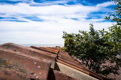 St Ibb's Church (Maria Eklind) Tags: view ven nature himmel outdoor clouds moln blue ö kyrkbacken stibbschurch sanktibbskyrka island sky kyrkachurch hven countryside sanktibb vy skånelän sverige se