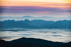 from earth to sky (Flutechill) Tags: mountain nature sunset mountainpeak landscape scenics fog mountainrange sky outdoors hill sunrisedawn dawn morning cloudsky beautyinnature forest travel mist valley thailand chiangmai chiangdao