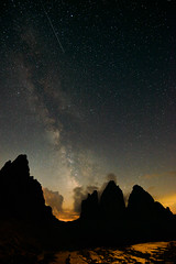 Drei Zinnen mit Milchstraße