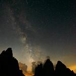 Drei Zinnen mit Milchstraße thumbnail