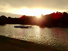 Sunset Over The Boating Lake, Helston 14 August 2018 (Cold War Warrior) Tags: lake helston sunset