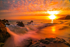 Malibu Sunset Landscape Seascape Photography! California Pacific Ocean Breaking Storm Colorful Clouds! Sony A7R II Mirrorless & Vario-Tessar T* FE 16-35mm f/4 ZA OSS Lens SEL1635Z! Scenic Red, Orange, Yellow Oceanscape Vista! Carl Zeiss Glass Fine Art! (45SURF Hero's Odyssey Mythology Landscapes & Godde) Tags: malibu sunset landscape seascape photography california pacific ocean breaking storm colorful clouds sony a7r ii mirrorless variotessar t fe 1635mm f4 za oss lens sel1635z scenic vista carl zeiss glass fine art
