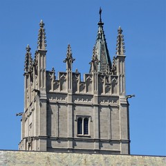 Evanston, IL, Northwestern University Campus, Gothic Tower at the Garrett-Evangelical Theological Seminary (Mary Warren 10.8+ Million Views) Tags: evanstonil architecture campus building northwesternuniversity stone tower gothic gargoyles