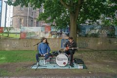 the blueswater band playing meadows edinburgh (iamthecandleman) Tags: band music instrument guitar drum girl boy performance street edinburgh scotland tourist fringe sony samyang 35mm a7r
