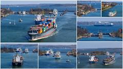 Schleusen des Nord-Ostsee Kanal in Kiel Holtenau. (niebergall.thomas) Tags: europa deutschland kiel holtenau nordostsee kanal schleswigholstein schiffe