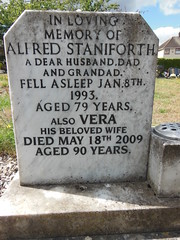 Alfred & Vera Staniforth (StaniforthSociety) Tags: beighton hackenthorpe derbyshire sheffield staniforth graves cemetery history ancestry brown