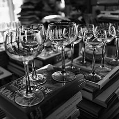 Library (jgokoepke) Tags: library afternoon wine wineglasses books neuenheim heidelberg germany