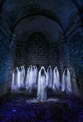 The congregation.... (Martika64) Tags: fantasmas ghosts fotografíanocturna nightphotography largaexposición longexposure dramatismo dramatic miedo fear color imagenacolor colorimage