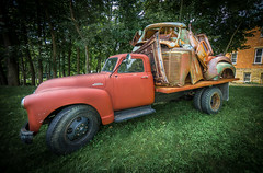 """Mineral Point, Wisconsin (petec1113) Tags: red truck antique wisconsin """"mineral point"""" sony a7 summer rust"""