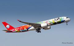 """F-WZFK // B-301D Airbus A350-941 - Sichuan """"Panda livery"""" - CN 060 (Flox Papa) Tags: fwzfk b301d airbus a350941 sichuan pandalivery cn 060 toulouse toulouseblagnac lfbo tls"""