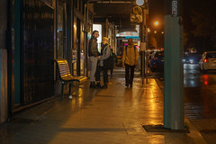 Three's a crowd (mekiaus) Tags: newtown sydney nsw australia streetphotography nightstreetphotography sony a6000 outside colour street nighttime couple sidewalk pavement shopfront
