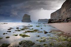Calm Before The Storm || GIBSON'S BEACH || GREAT OCEAN ROAD (rhyspope) Tags: australia aussie vic victoria great ocean road greatoceanroad gibsons steps 12 apostles gog magog rhys pope rhyspope canon 5d mkii storm weather sky clouds sea water beach rocks moss waves seaweed nature cliff travel tourist wow amazing