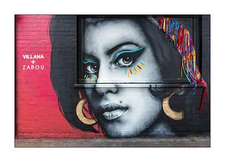 Street Art (Zabou & Villana), East London, England.