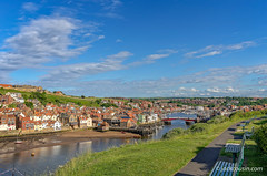Panorama of Whitby harbour. (jack cousin) Tags: northsea riveresk uk whitby yorkshire bench boats bridge buildings cloud coast harbor harbour holiday jetty marina nature outdoor popular port resort river sea seascape seashore seat shore sky tourism touristattraction town travel vacation water wharf nikond610 on1photos