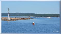 Gottskär (8) a1 (andantheandanthe) Tags: sweden kungsbacka halland sky sea water boat boats recreasion recreation blue landmark boj