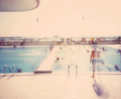 pool time (www.matteovarsi.com) Tags: pinhole pinholecamera lomography fujifilm people pool summer light sun water