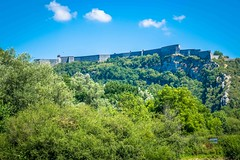 Cycling along Le Doubs river in France near Chalezeule afforded us amazing views of this fort.