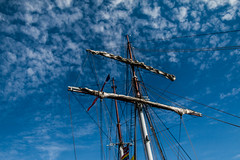 Friggin` in the Riggin (langdon10) Tags: barkantine bluesky foremast lao northsea norway rigging tallship