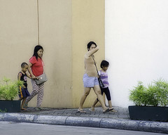 Mall Shopping (Beegee49) Tags: street women children walking bacolod city philippines