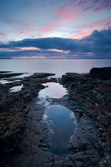 Sunrise at An Corran Beach, Staffin, Isle of Skye, Scotland (Nils Leonhardt) Tags: scotland highlands isleofskye nilsleonhardt nikon sunrise beach ocean sky clouds longexposure leefilters gitzo water rocks drama sea